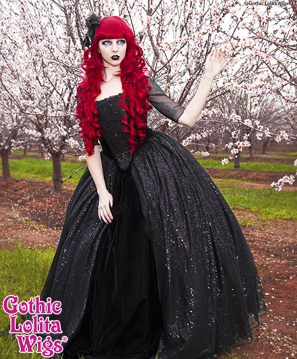Le Mew Photography, Allie Schell, Gothic Lolita Wigs Red Elodie