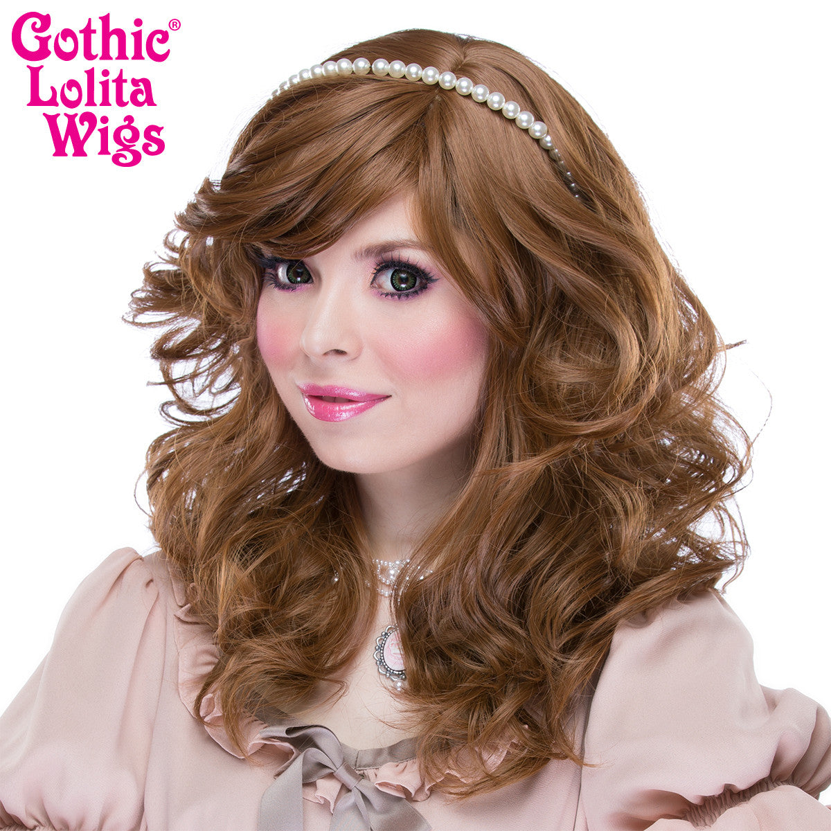 Gothic Lolita Wigs® <br>Girly Girl Collection - Caramel Brown Mix -00416