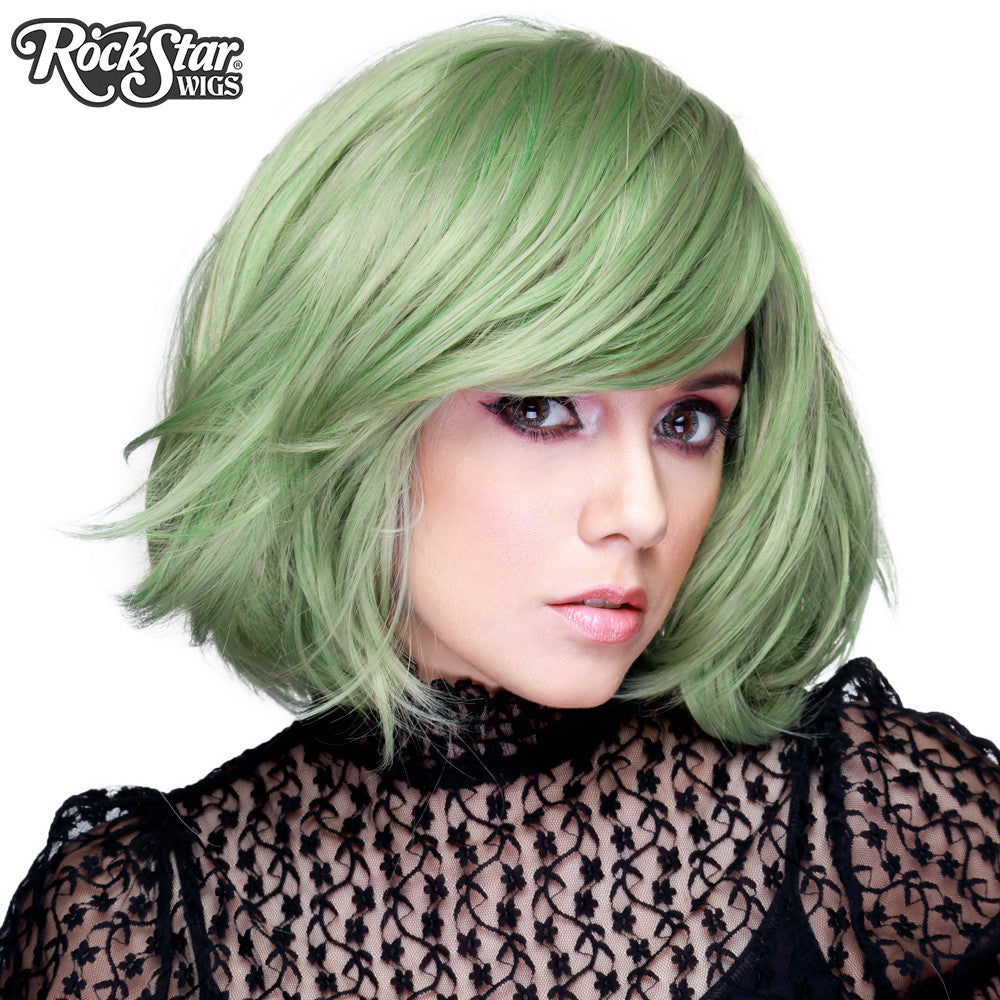 "RockStar Wigs® <br> Hologram 12"" - Dark Mint Mix -00658"