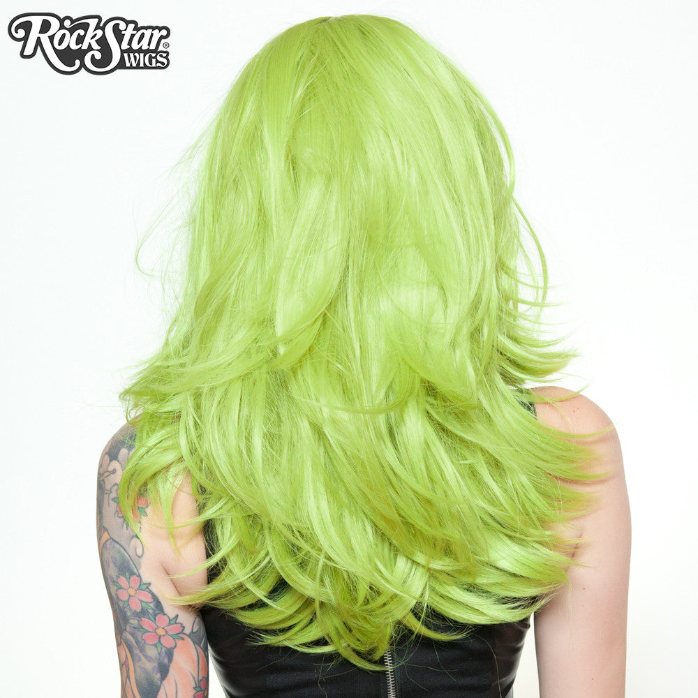 "RockStar Wigs® <br> Hologram 22"" - Lime Green 00641"