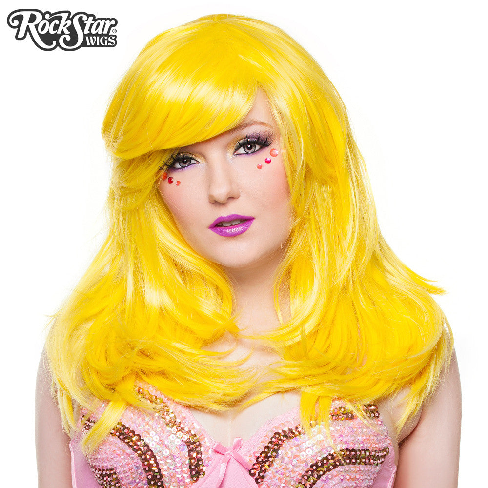 "RockStar Wigs® <br> Hologram 22"" - Yellow Mix - 00651"