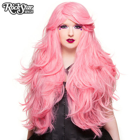 "RockStar Wigs® <br> Hologram 32"" - Bubble Gum Pink (Deep Pink Mix) -00612"