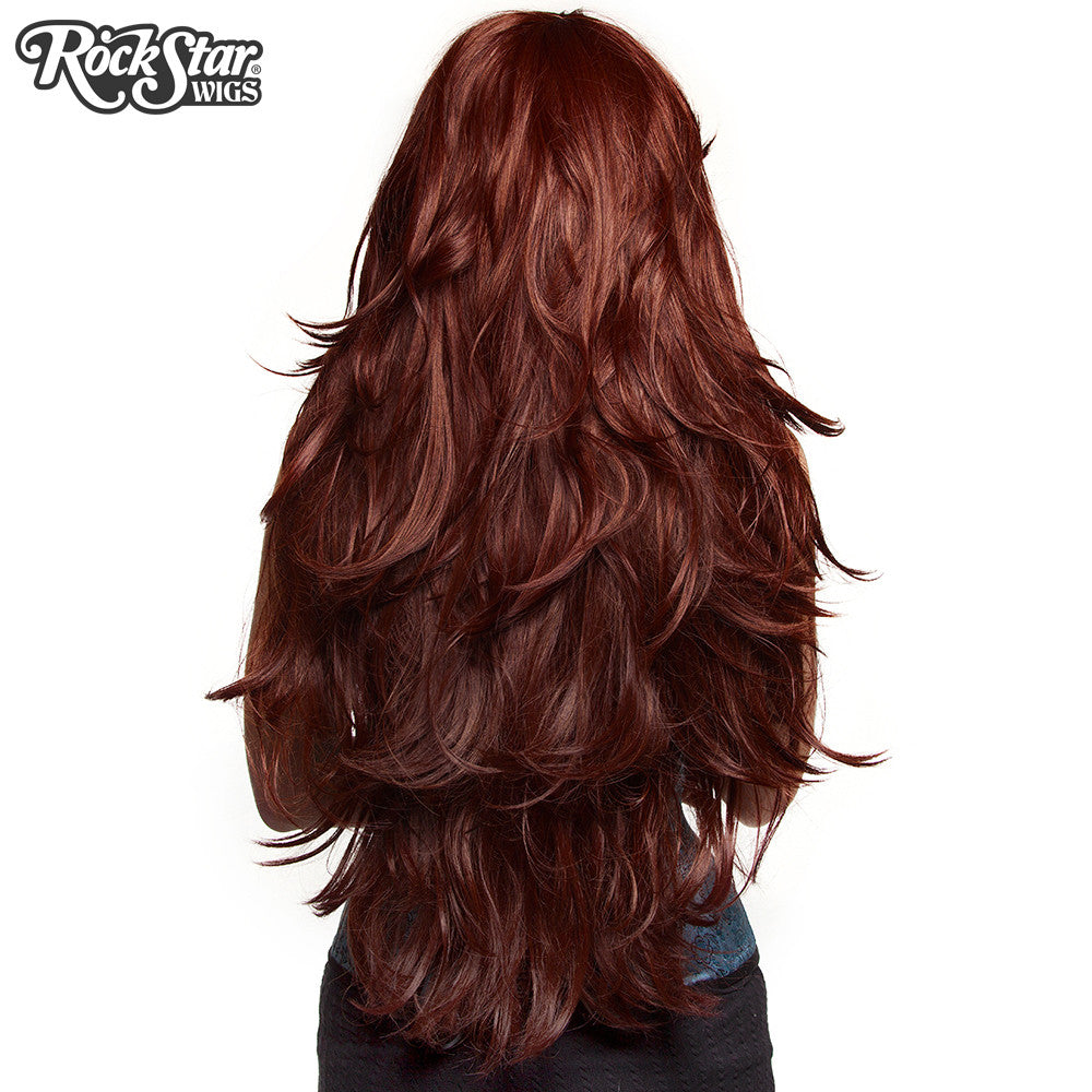 "RockStar Wigs® <br> Hologram 32"" - Chocolate Brown Mix -00613"
