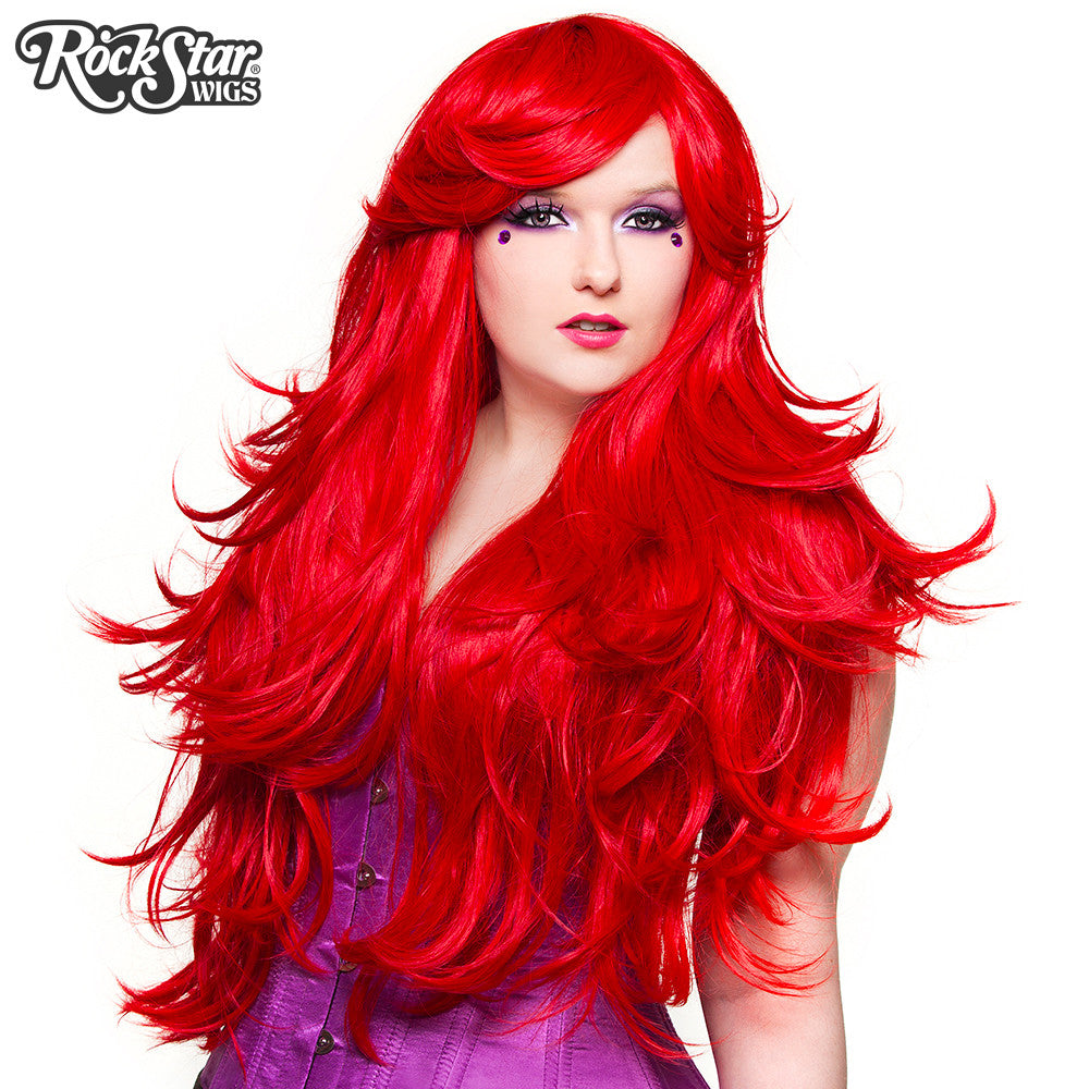 "RockStar Wigs® <br> Hologram 32"" - Jem Red -00614"