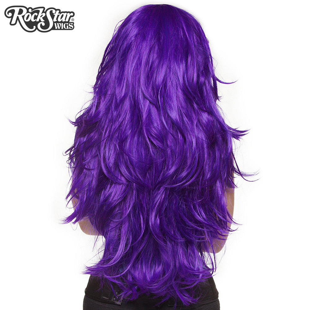 "RockStar Wigs® <br> Hologram 32"" - Purple Grape -00616"