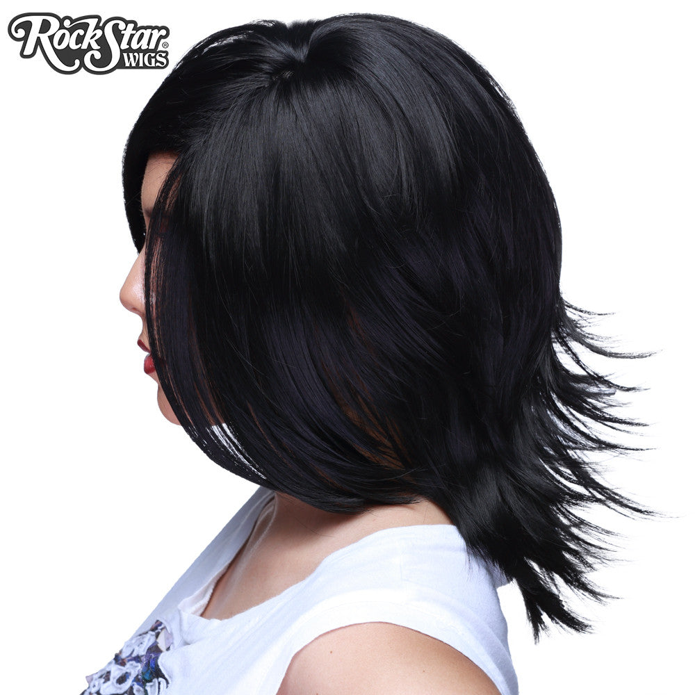 Cosplay Wigs USA™ <br> Boy Cut Shag - Black -00285