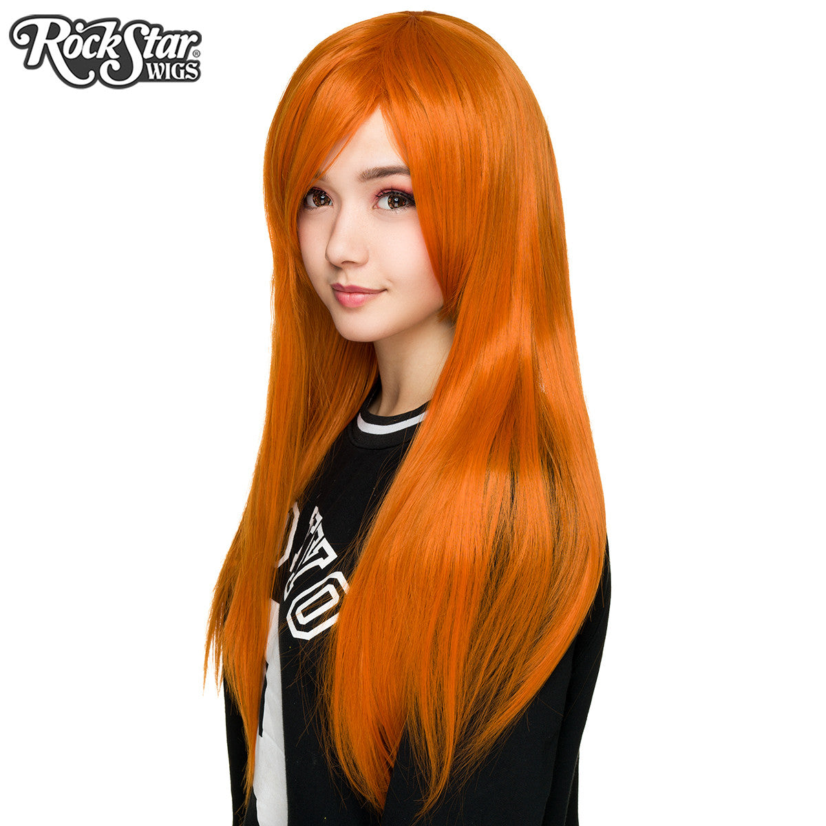 "Cosplay Wigs USA™ <br> Straight 70cm/28"" - Orange -00342"