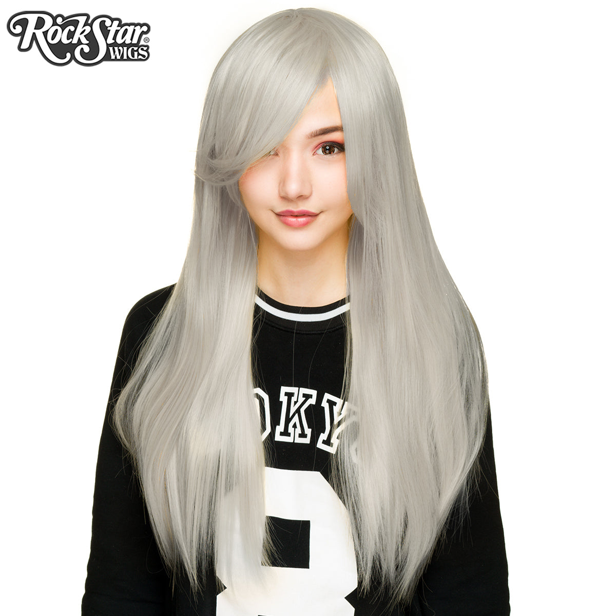 "Cosplay Wigs USA™ <br> Straight 70cm/28"" - Silver -00493"