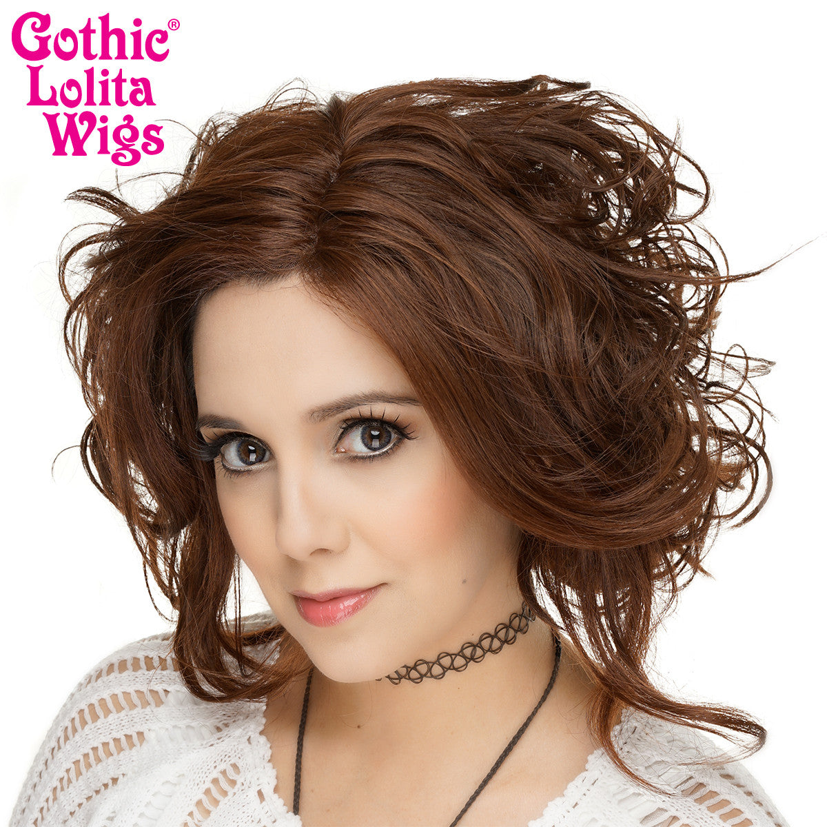 Lace Front Loose Curls Bob - Chocolate Brown - 00765