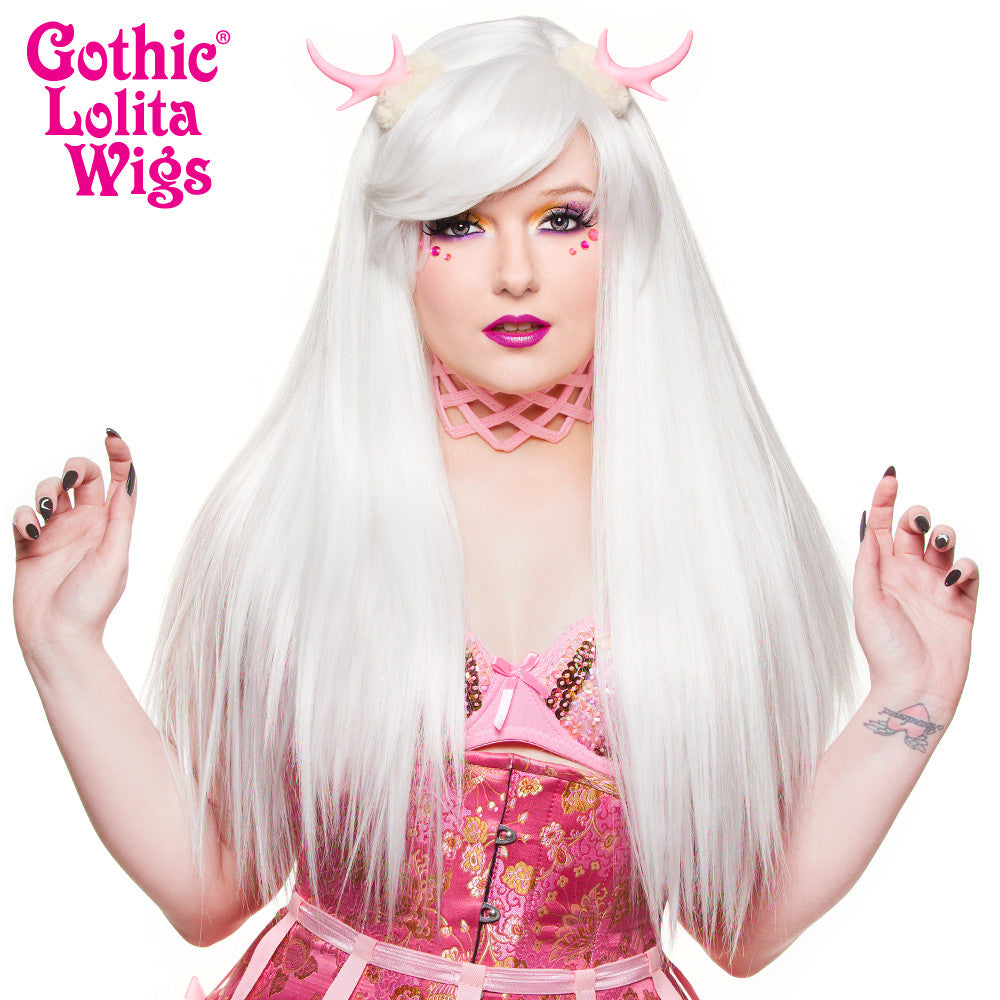 Gothic Lolita Wigs® <br> Bella™ Collection - White - 00686