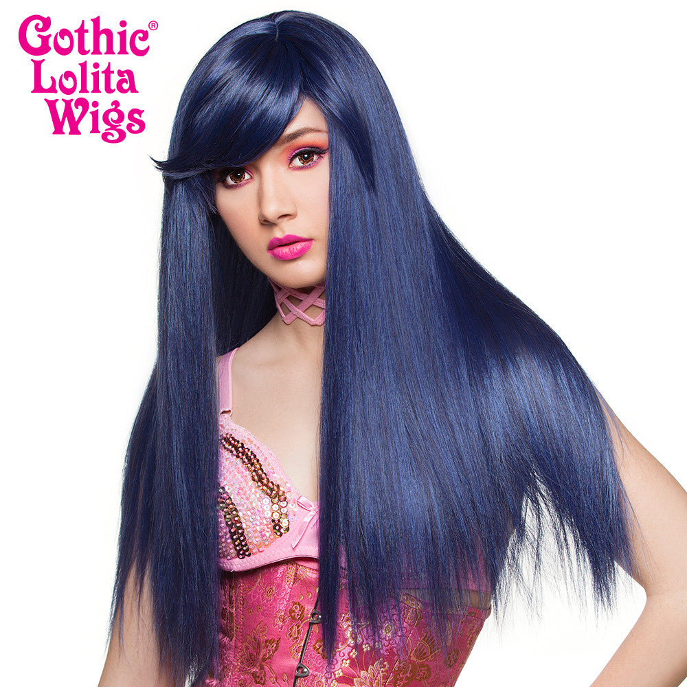 Gothic Lolita Wigs® <br> Bella™ Collection - Blue Black (BU05) - 00680