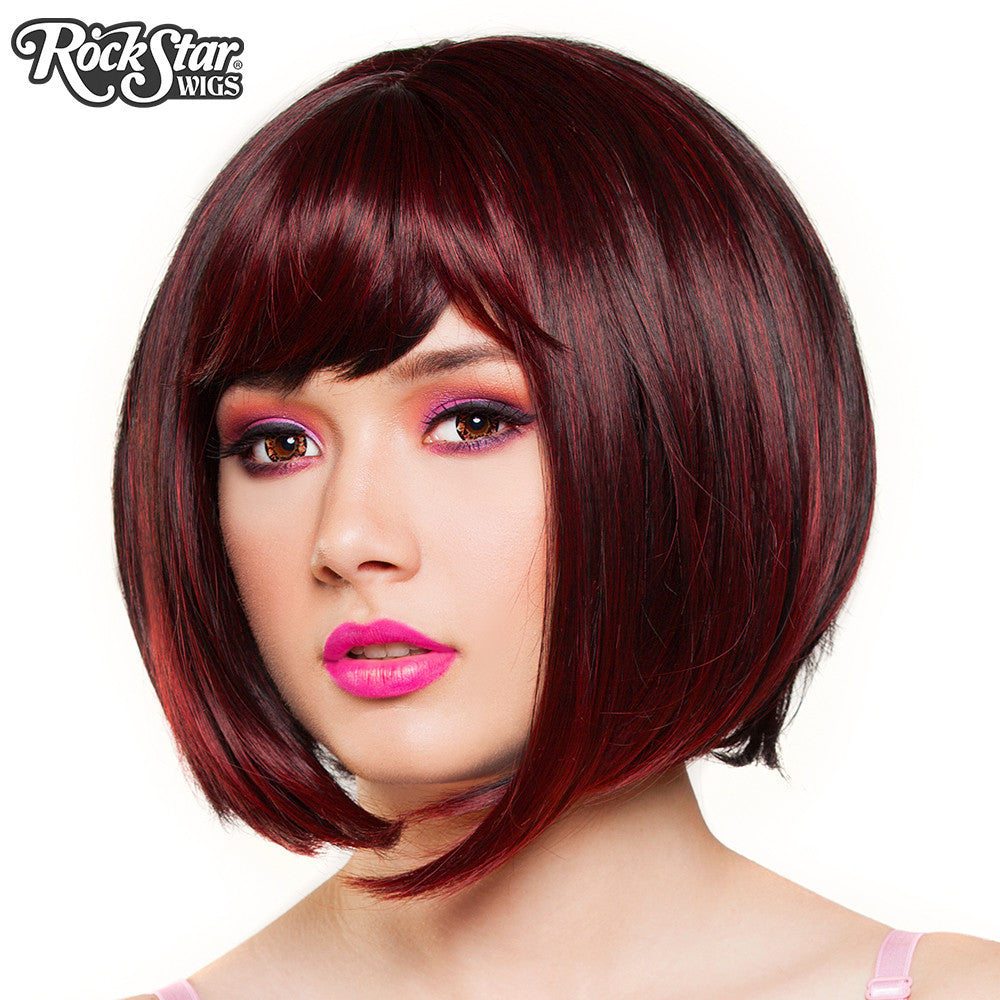 Rockstar Wigs Candy Girl Bob - Black Wine Blend - 00687 -1247