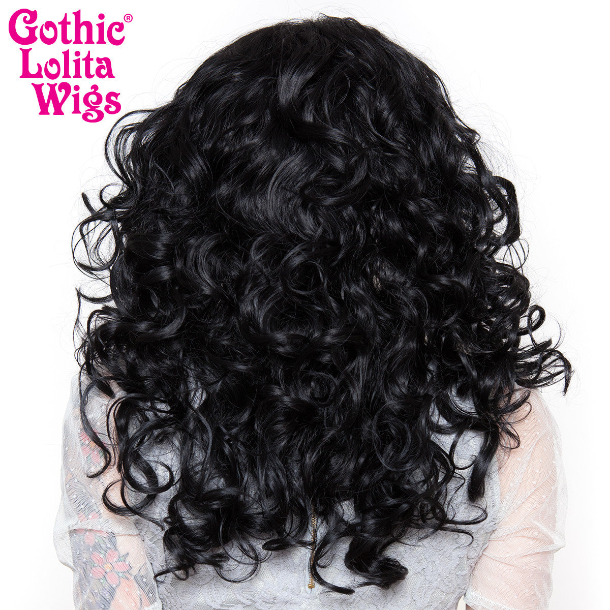 "Lace Front 20"" Medium Curly - Jem Black - 00771"