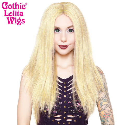 "Lace Front 24"" Long Straight - Light Blonde Mix- 00190"