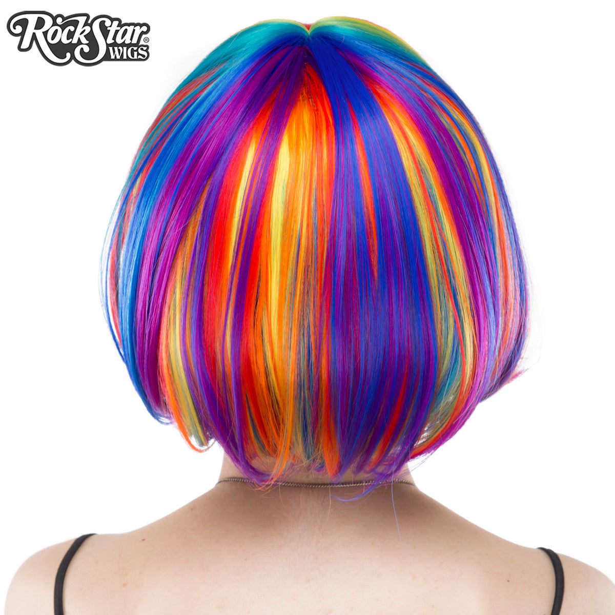 RockStar Wigs® <br> Rainbow Rock™ Collection - Rainbow Bob -00220