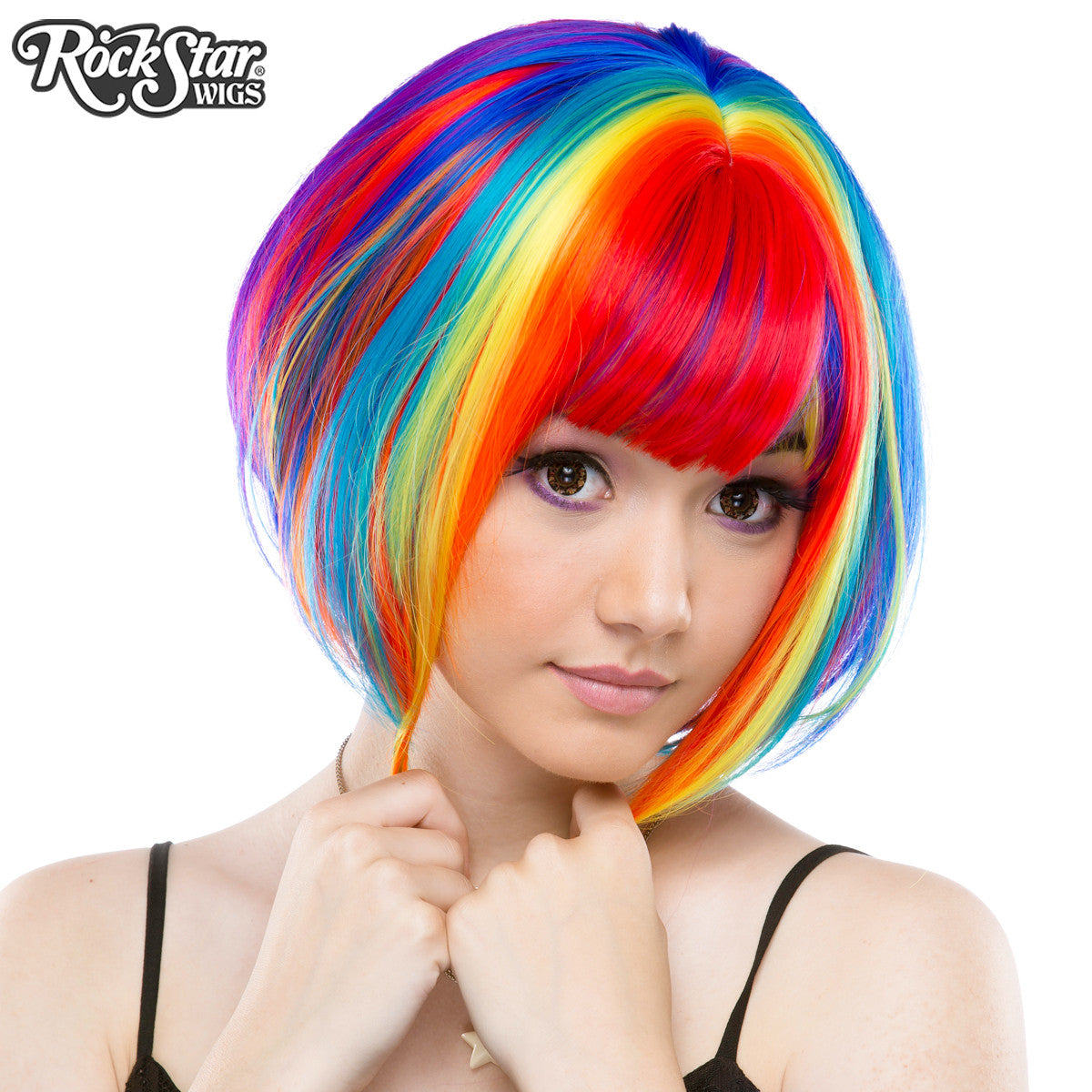 Rockstar Wigs 174 Rainbow Rock Collection Rainbow Bob