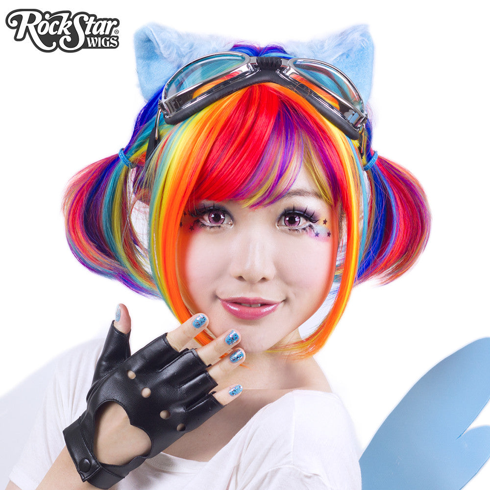 Rockstar Wigs Rainbow Rock Collection Rainbow Bob ロリータの
