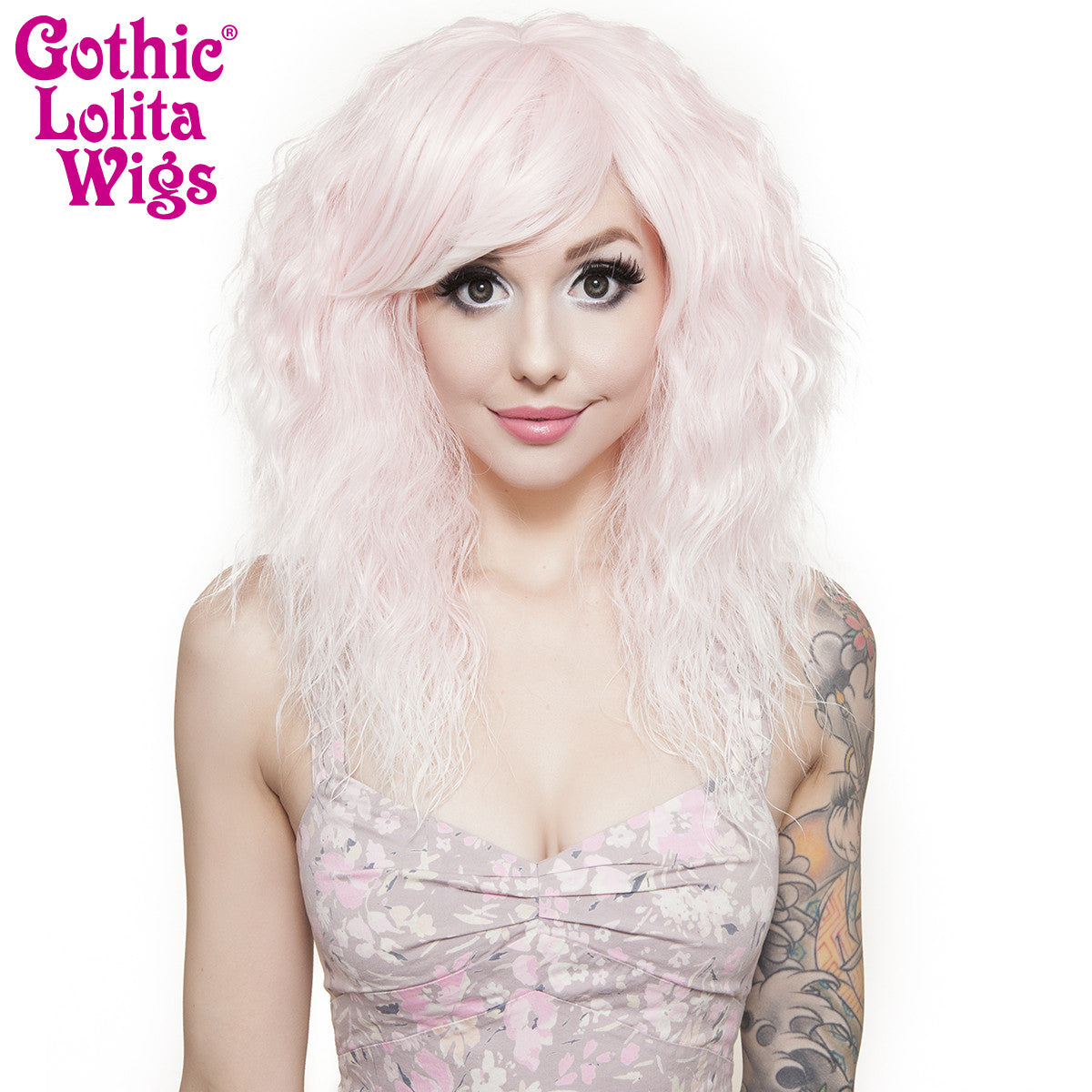 Gothic Lolita Wigs® <br> Rhapsody Short™ Collection - Pink to White Fade -00894