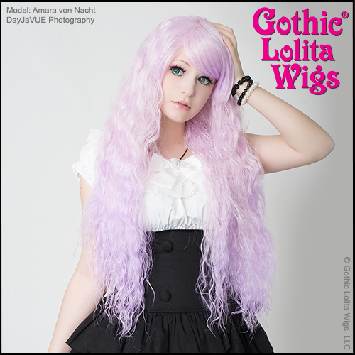 Rhapsody Lavender Light Lilac Purple Japanese Style Wigs
