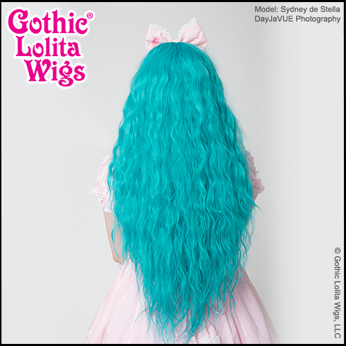 Back view - Rhapsody in Teal by Gothic Lolita Wigs