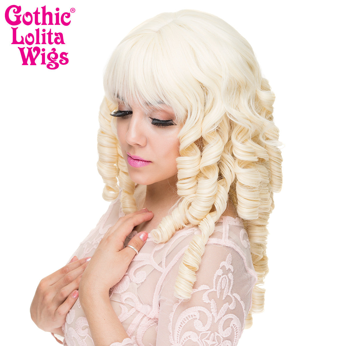 Gothic Lolita Wigs® <br> Ringlet Redux™ Collection - Platinum Blonde -00463