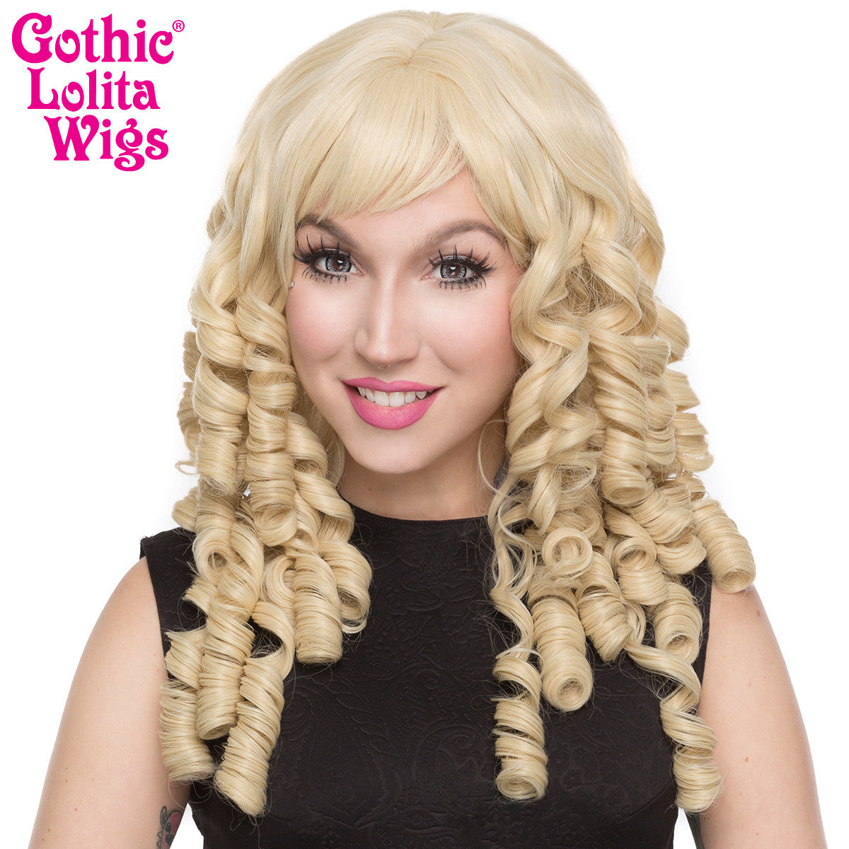 Gothic Lolita Wigs 174 Ringlet Redux Collection Blonde
