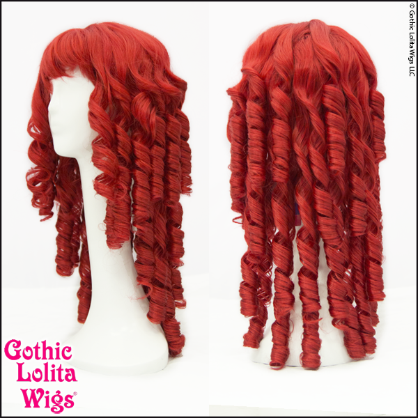 Raggedy Ann doll clown red ringlet tight curls cosplay wigs.