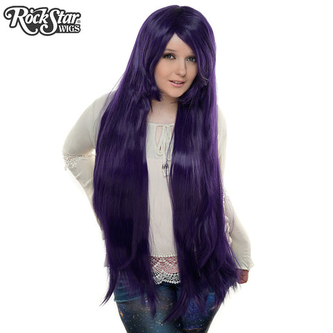 "Cosplay Wigs USA™ <br> Straight 100cm/40"" - Purple Black -00357"