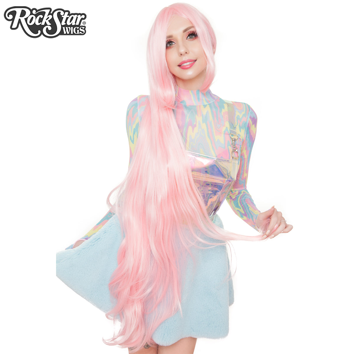 "Cosplay Wigs USA™ <br> Straight 120cm/47"" - Light Pink 00550"