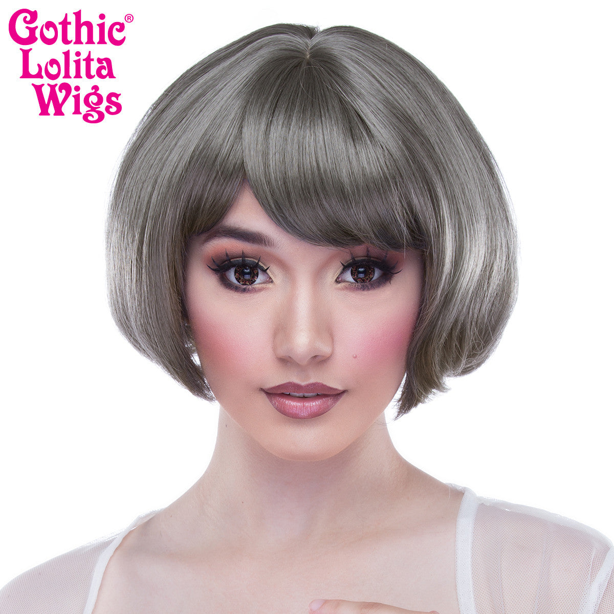 Gothic Lolita Wigs® <br> Lolibob™ - Dark Grey Mix -00396