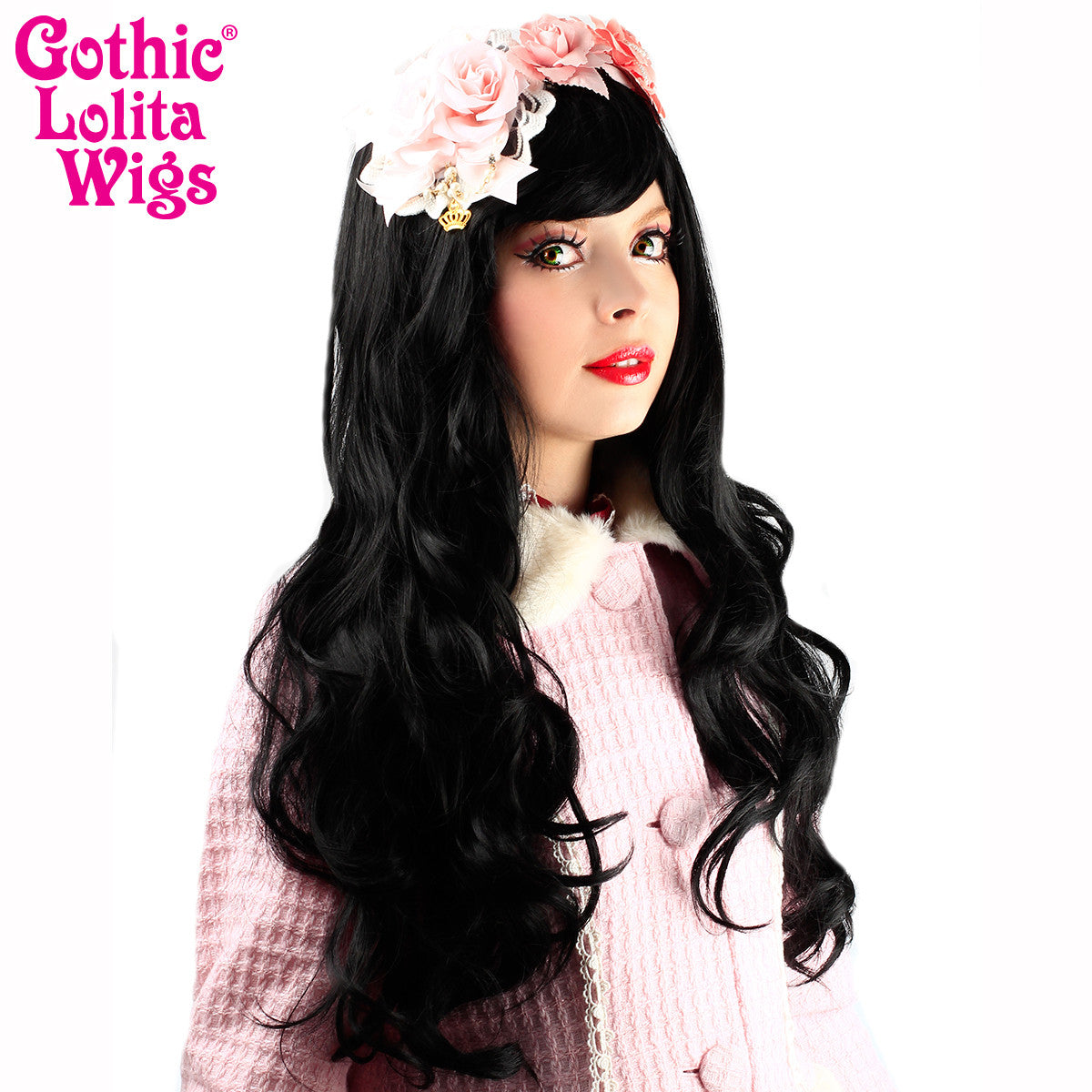 Gothic Lolita Wigs® <br>Ulzzang Collection - Black -00406