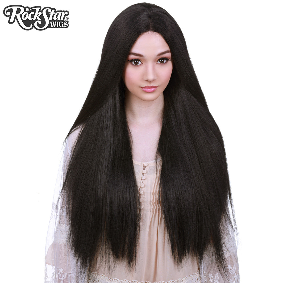 "Lace Front Yaki Straight 32"" - Black -00591"