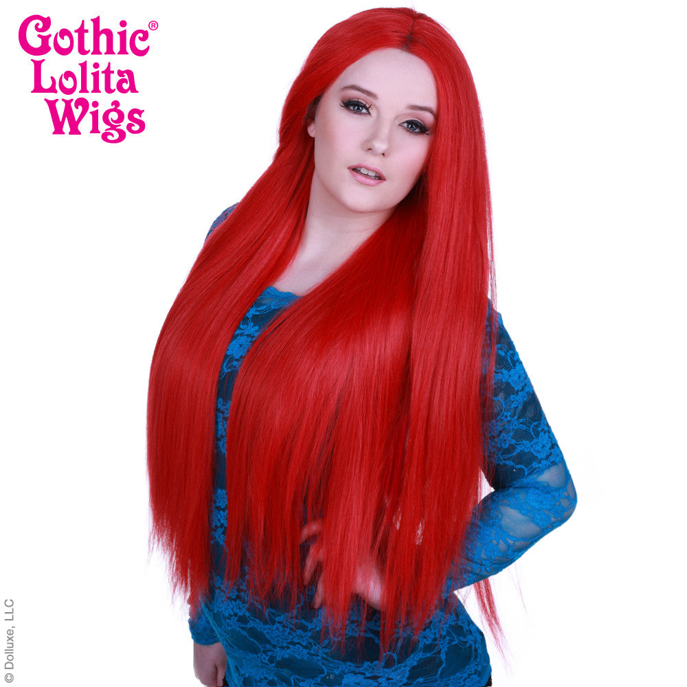 "Lace Front Yaki Straight 32"" - Red -00588"
