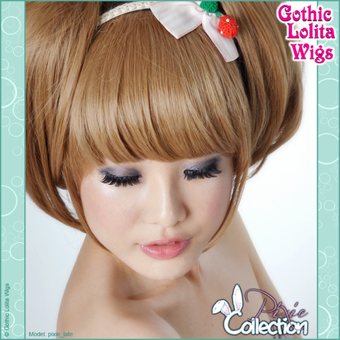 Gothic Lolita Wigs® <br> Pixie™ Collection - Bangs 1 (Milk Tea) -00069
