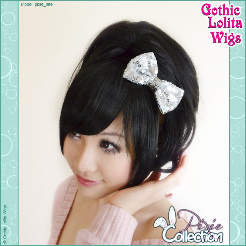 Gothic Lolita Wigs® <br> Pixie™ Collection - Bangs 2 (Black) -00070