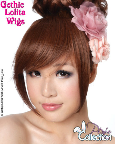 Gothic Lolita Wigs® <br> Pixie™ Collection - Bangs 2 (Dark Brown) -00073