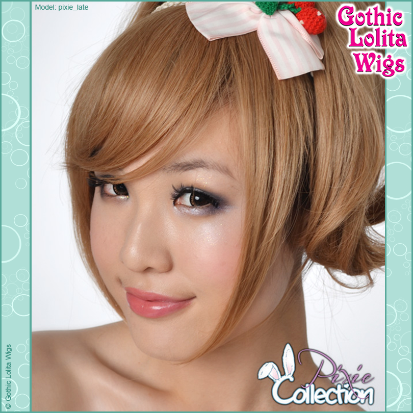 Gothic Lolita Wigs® <br> Pixie™ Collection - Bangs 2 (Milk Tea) -00071