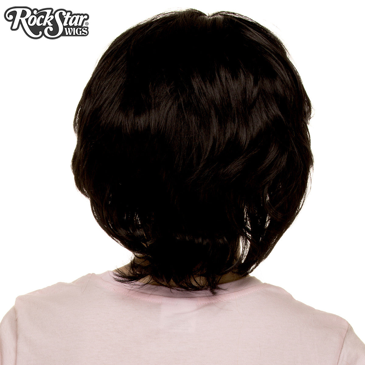Cosplay Wigs USA™ <br> Boy Cut Short Shag - Black - 00518
