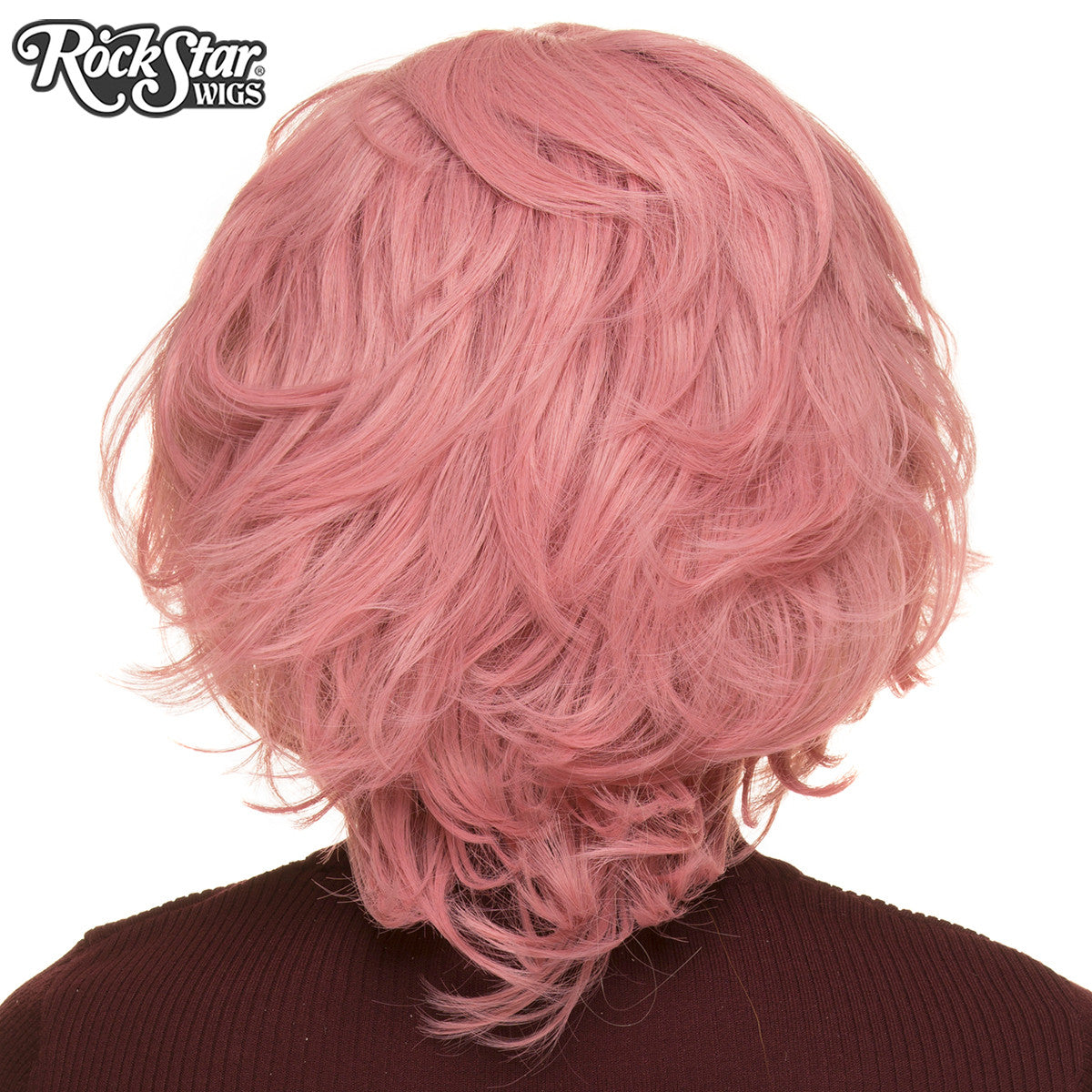 Cosplay Wigs USA™ <br> Boy Cut Short Shag - Milkshake Pink - 00524