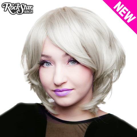 Cosplay Wigs USA™ <br> Boy Cut Short Shag - Silver - 00520
