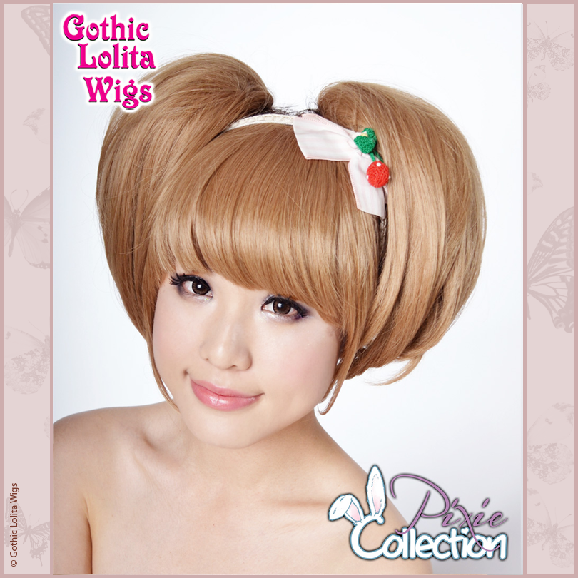 Gothic Lolita Wigs® <br> Pixie™ Collection - Bun 1 (Milk Tea) -00077