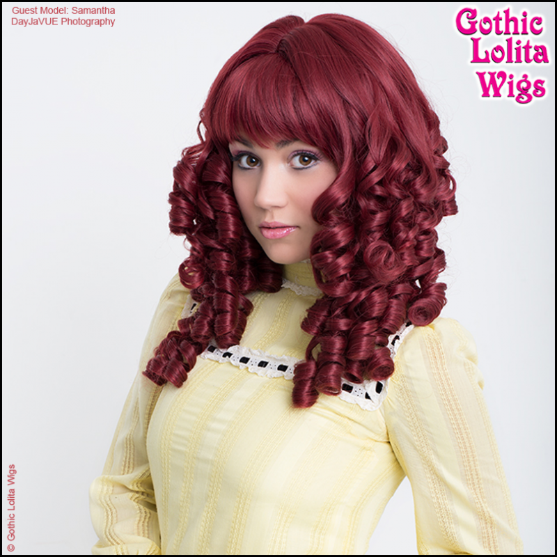 Gothic Lolita Wigs - Ringlet Redux Burgundy tight curls