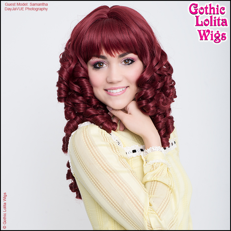 Victorian era tight curly curls cosplay wig ringlets lolita
