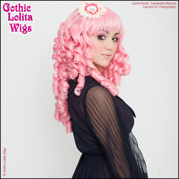 Gothic Lolita Wigs 174 Ringlet Redux Collection Deep Pink