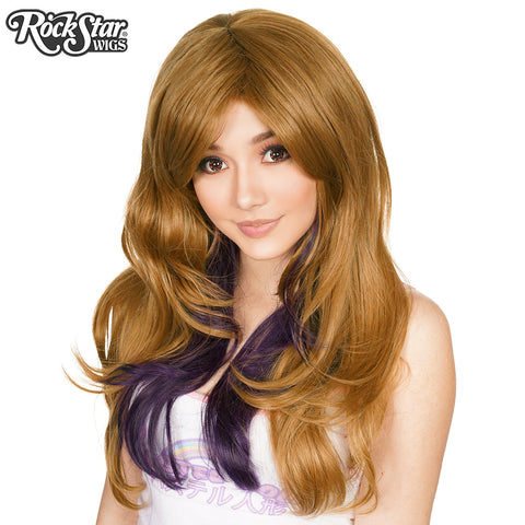 RockStar Wigs® <br> Downtown Girl™ Collection - Milk Tea & Black Plum -00365