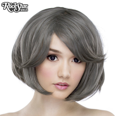 "RockStar Wigs® <br> Hologram 12"" - Dark Grey Pewter -00657"
