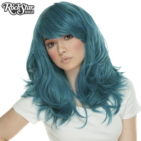 "RockStar Wigs® <br> Hologram 22"" - Turquoise Mix -00648"