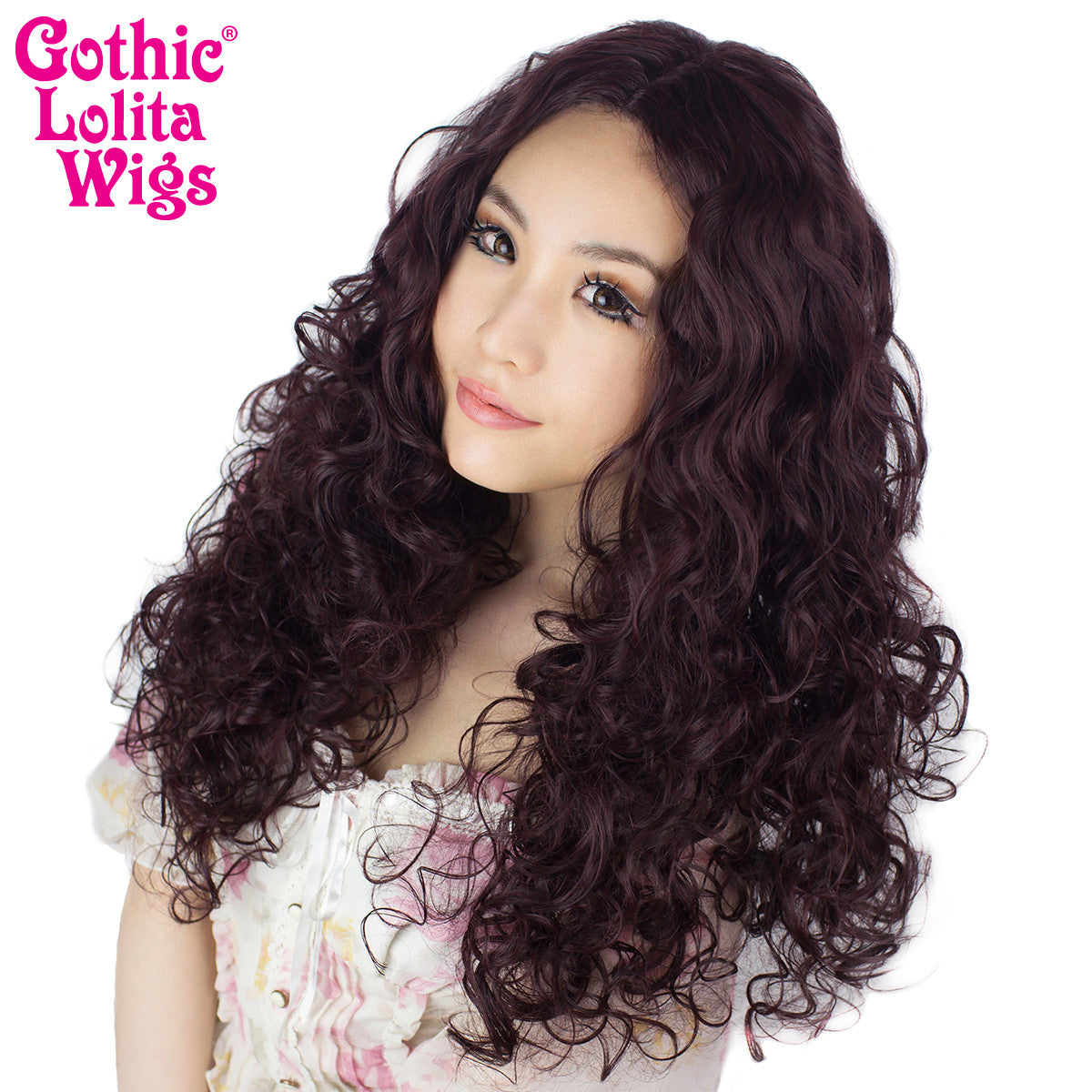"Lace Front 25"" Long Curly - Black Rose - 00778"