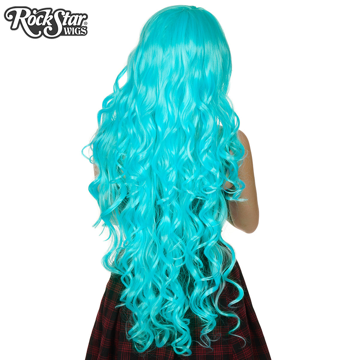 "Cosplay Wigs USA™ <br> Curly 90cm/36"" - Aqua Blue -00315"