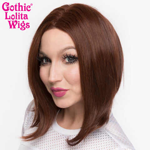 Lace Front Long Sleek Bob - Chocolate Brown - 00763